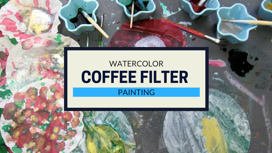 Painting-with-coffee-filter